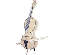 Quebra-cabeças Quebra-Cabeças de Madeira Blocos de construção Brinquedos Faça Você Mesmo Violino Instrumentos Musicais 1 Madeira Ivory