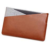 para el macbook de la manzana de aire / Pro de 13,3 pulgadas Pro 15.4 mangas bolsa de ordenador portátil de la PU de cuero con bolsa de