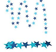 raylinedo® 1 Stück 4 Meter blau Papiergirlande für Hochzeit Geburtstag Party Weihnachten Mädchen Raumdekoration Sterne 7 formen * 7cm
