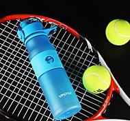 Frosted Sports Drinkware, 620 ml Leak-proof BPA Free Plastic Juice Water Bottle