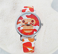 Fashion Watch Quartz Leather Band Black Blue Red Green Pink