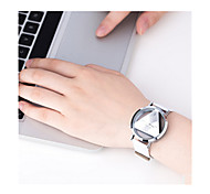 Women's Sport Watch Digital Watch / Quartz Digital Leather Band Vintage Black White Silver