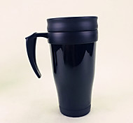 Classic Drinkware, 400 ml Heat Retaining Heat-Insulated Plastic Juice Milk Vacuum Cup