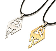 Men's Pendant Necklaces Jewelry Stainless Steel Jewelry Personalized Rock Euramerican Gold Silver JewelryParty Special Occasion