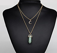Women's Pendant Necklaces Crystal Alloy Jewelry Vintage Euramerican Bohemia Purple Pink Light Blue Light Green Dark Green JewelryBirthday
