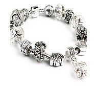 Chain Bracelet Crystal Crystal Alloy Natural Jewelry White Jewelry 1pc