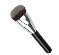 1pcs Foundation Brush Synthetic Hair Travel Type Portable Black Wood Handle for Face Brush