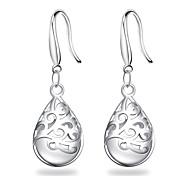 925 Sterling Silver Earrings Pink Opal Waterdrop Drop Earrings Jewelry