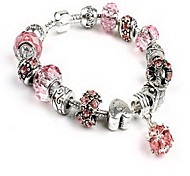 Chain Bracelet Crystal Crystal Natural Jewelry Pink Jewelry 1pc