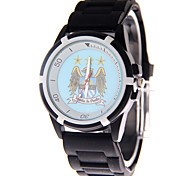 Fashion Watch Quartz PU Band Black Blue