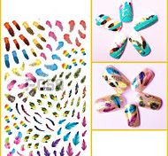 1pcs 3D Nail Art Sticker Beautiful Feather Design Nail Art Decoration For Beauty Tips F050