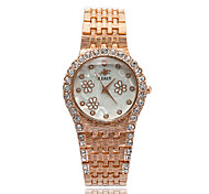 Fashion Watch Bracelet Watch Simulated Diamond Watch Quartz Alloy Band Silver Gold Rose Gold