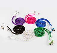 USB 2.0 Type C Braided Cable For Samsung Huawei Sony Nokia HTC Motorola LG Lenovo Xiaomi 100 cm PVC