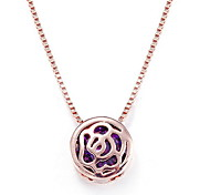 Pendant Necklaces Crystal 18K gold Alloy Flower Basic Dangling Style Gold Jewelry Daily Casual 1pc