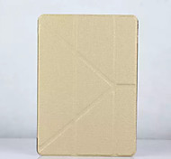 For IPad Air 2  With Stand Case Full Body Case Solid Color Hard PU Leather