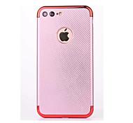 Для Покрытие Кейс для Задняя крышка Кейс для Один цвет Мягкий Углеволокно для AppleiPhone 7 Plus iPhone 7 iPhone 6s Plus/6 Plus iPhone