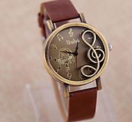 Reloj de Moda Cuarzo Piel Banda Casual Marrón Morado Color Beige