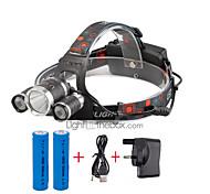 U'King® ZQ-X807#1-UK CREE XML T6  2R5 3 LED 4000LM 4Modes Multifunction Headlamp Bicycle Light for Camping Hiking