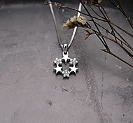 Pendants Baasic Style Flower Style Sterling Silver