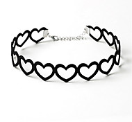 Choker Necklaces Jewelry Flannelette Circle Heart Love Black Jewelry Birthday Daily Casual 1pc