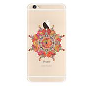 For Transparent Pattern Case  Mandala Soft TPU for Apple iPhone 7 Plus iPhone 7 iPhone 6 Plus 6 iPhone 5 SE 5C iphone 4