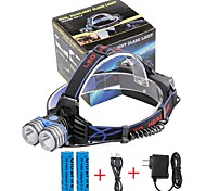 U'King Налобные фонари LED 4000 Люмен 3 Режим Cree XM-L T6 Да мобильный источник питания Простота транспортировки Высокомощный