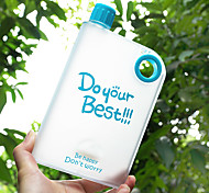 Novelty Frosted Drinkware, 400 ml Leak-proof BPA Free Plastic Juice Water Bottle