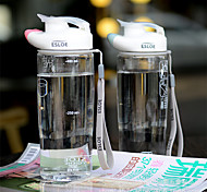 Transparent Drinkware, 600 ml Leak-proof BPA Free Plastic Juice Water Water Bottle