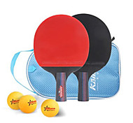 Table Tennis Rackets Ping Pang Wood Short Handle Pimples Indoor Performance Practise Leisure Sports