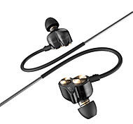 DZAT DT-05 Double Dynamic 3.5mm In Ear Earphone Noise Sports Earphone DJ HIFI Bass Headset Earbuds