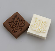 Maple leaves Shape DIY Handmade Soap Chapter Seals Tool Design