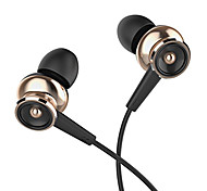 UiiSii GT550 Universal 3.5mm Metal Headphones In Ear Super Bass Earphone with Microphone Auriculares For Android iOS
