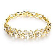 Bracelet Chain Bracelet Alloy Zircon Irregular Others Fashion Party Special Occasion Birthday Gift Christmas Gifts Jewelry GiftGold White