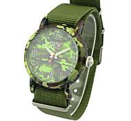 Fashion Watch Quartz Fabric Band Charm Green