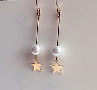 Drop Earrings Fashion Alloy Star Jewelry For Birthday Daily 1 pair