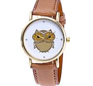 Women's Fashion Watch Wristwatch Quartz Multi-colored Creative Owl Pattern Dial Top Brand Leather Band Cool Casual Unqiue Watches Relogio Feminino