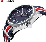 Men's Fashion Watch Quartz Fabric Band Casual Black Orange Khaki Navy Black Silver Green Khaki