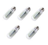 4W E26 E27 Bombillas LED de Mazorca T 84 SMD 2835 350 lm Blanco Fresco V 5 piezas