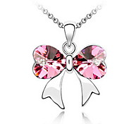 Women's Pendant Necklaces Crystal Heart Chrome Unique Design Personalized Jewelry For Wedding Anniversary Congratulations 1pc