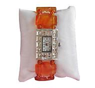 Women's Fashion Watch Quartz Jade Band Orange