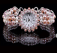 Women's Fashion Watch Quartz Pearl Band Pink Blushing Pink