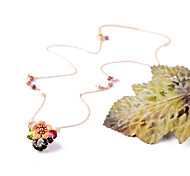 Women's Collar Necklace Flower Chrome Petals Jewelry For Gift Valentine