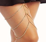 Женский Украшения для тела Цепочка на ногу Мода бижутерия Стразы Геометрической формы Бижутерия Назначение Для вечеринок Особые случаи