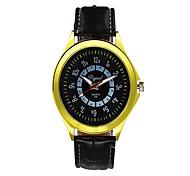 Men's Fashion Watch Quartz Silicone Band Casual Black White Blue