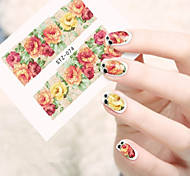 10pcs/set Hot Flower Nail Art Water Transfer Decals Beautiful Flower Nail Art Beauty Sticker STZ-074