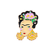 Fashion Cute Woman  Enamel Brooch