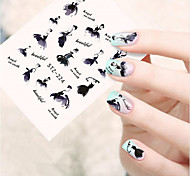 10pcs/set Hot Fashion Sweet Style Design Nail Art Sticker Beautiful Dancing Girl Design Beautiful Nail Art Water Transfer Decals Nail Beauty STZ-224