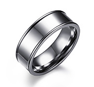 Men's Ring Circle Steel Round Jewelry For Daily