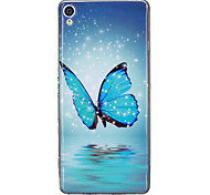 For Sony Xperia XA Case Cover Butterfly Pattern Luminous TPU Material IMD Process Soft Case Phone Case