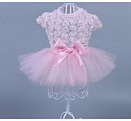 Кошка Собака Платья Одежда для собак На каждый день Мода Цветы Розовый 10 12